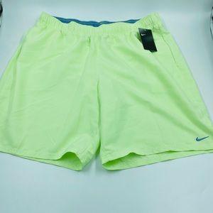 Nike Swim Trunks lined active shorts Neon XXL NWT